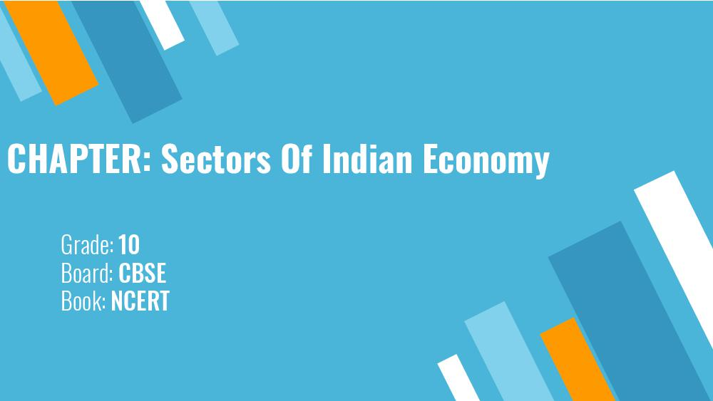 Teaching Material Class 10 Economics Sectors of the Indian Economy - Page 1