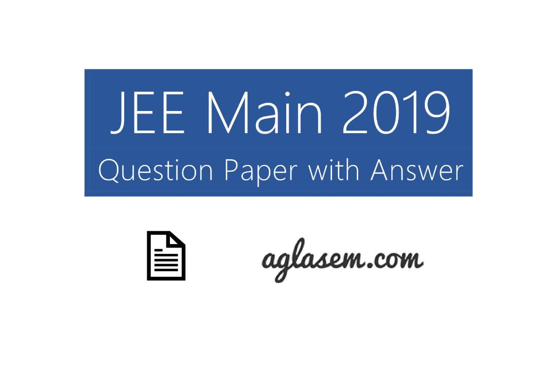 JEE Main 2019 Question Paper 9 Jan Shift 2 - Page 1