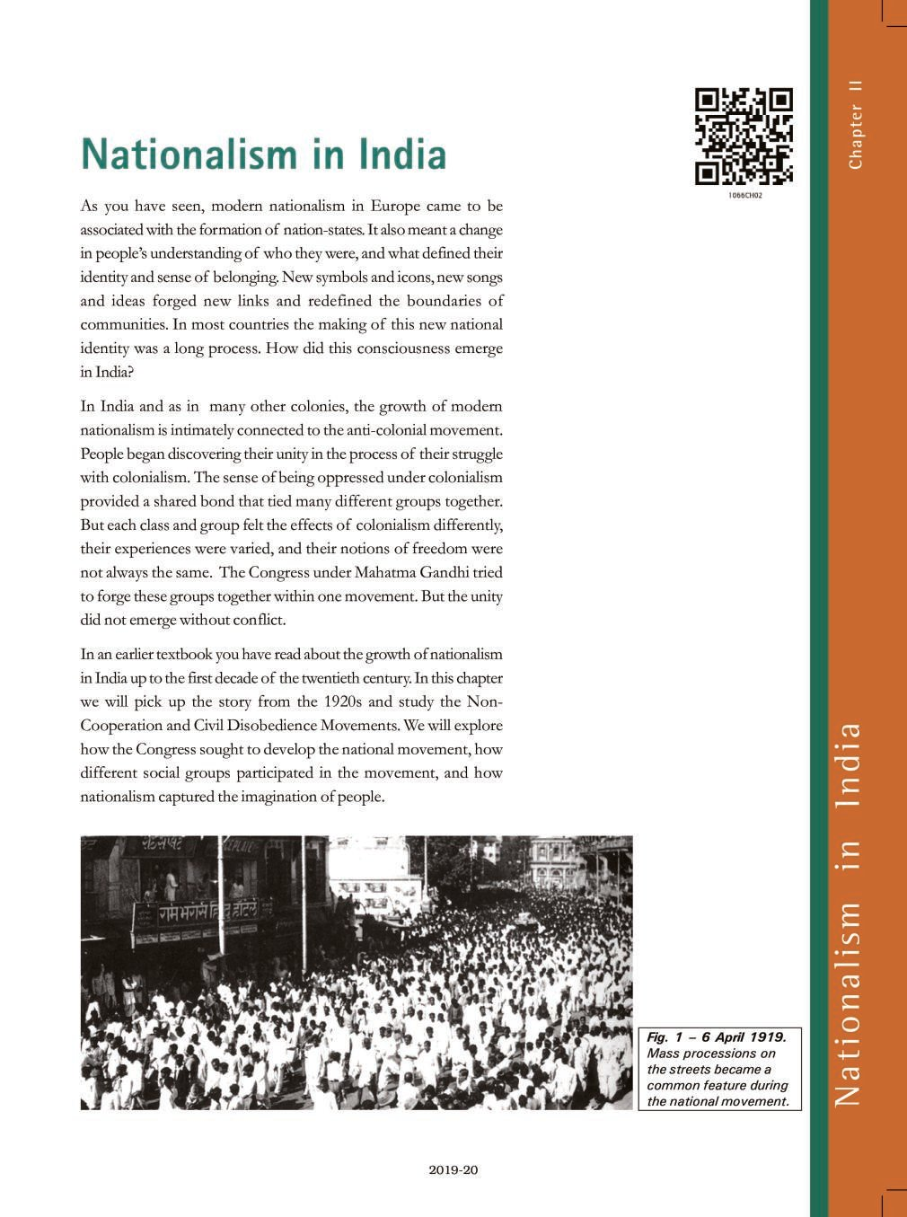 NCERT Book Class 10 Social Science (History) Chapter 2 Nationalism in India - Page 1