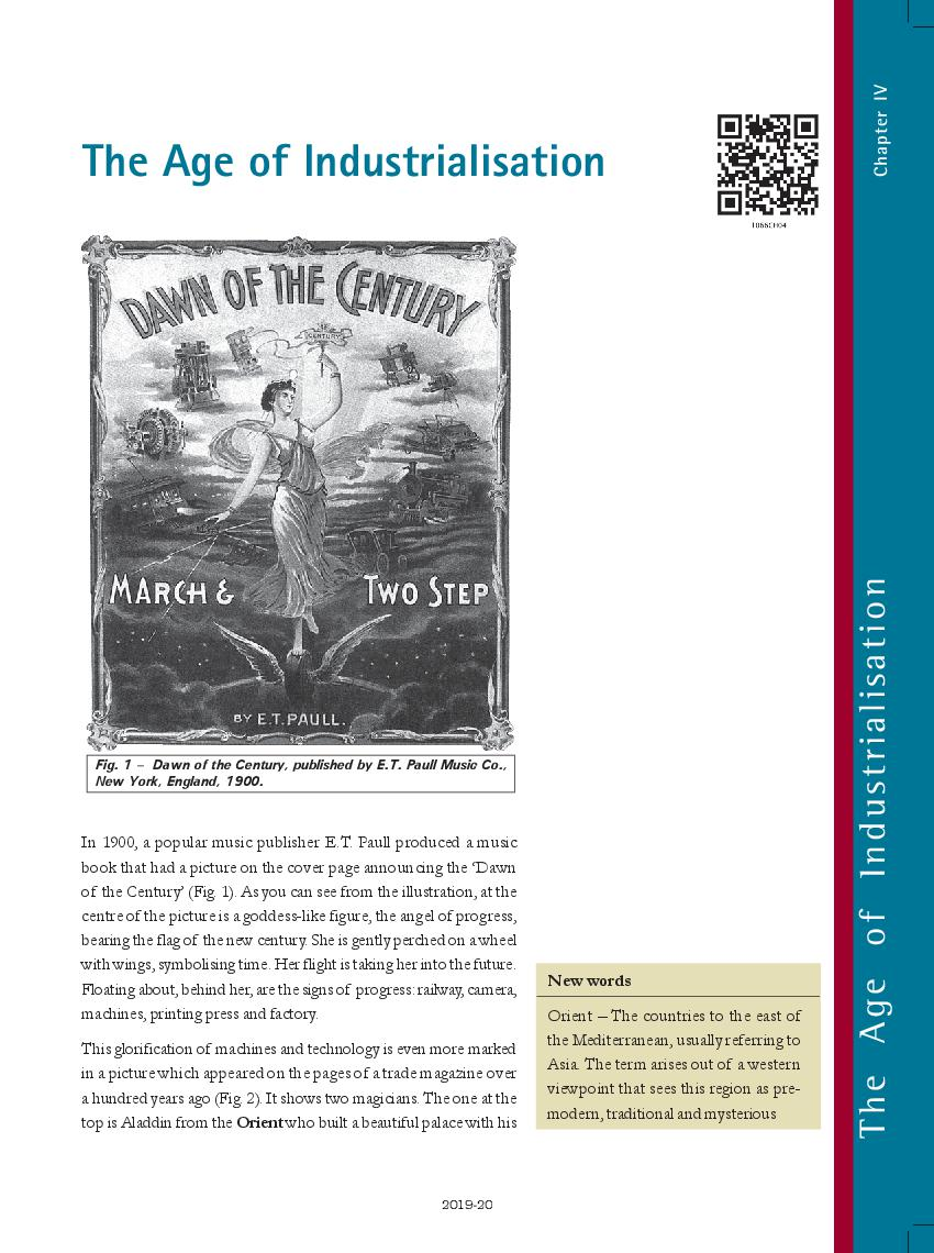 NCERT Book Class 10 Social Science (History) Chapter 4 The Age of Industrialisation - Page 1