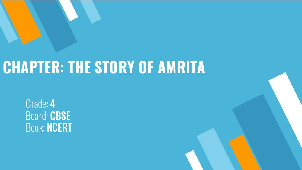 Teaching Material Class 4 EVS The Story of Amrita - Page 1