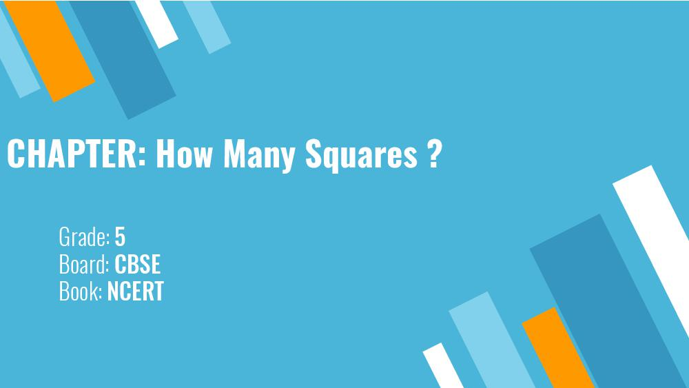 Teaching Material Class 5 Maths How Many Squares - Page 1