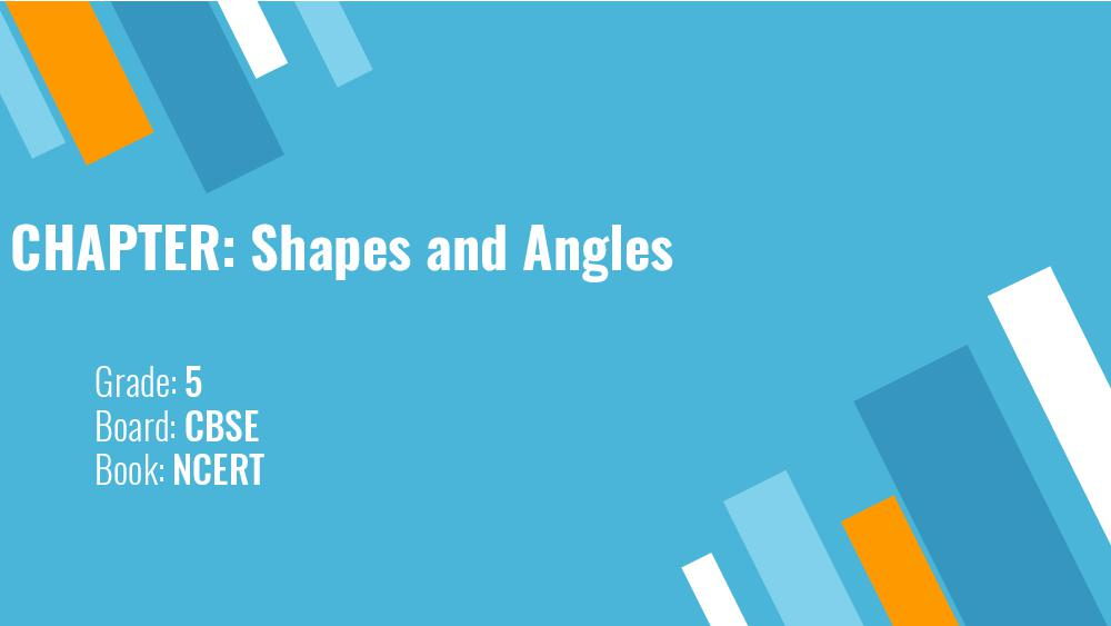 Teaching Material Class 5 Maths Shapes and Angles - Page 1