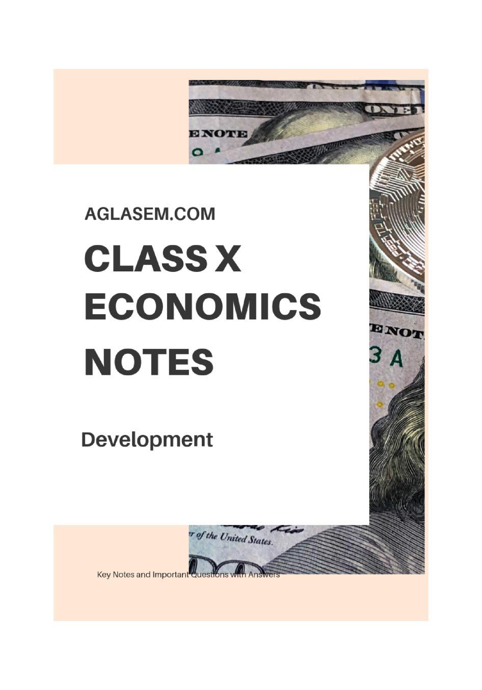 Class 10 Social Science Economics Notes for Development - Page 1